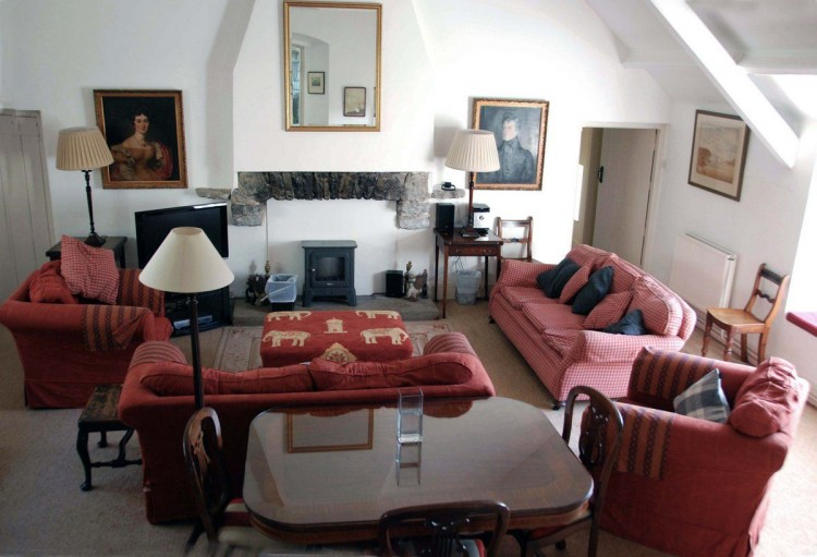 Manorbier holiday home in Wales sitting room