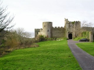 Manorbier Castle Entrance, this is contains a holiday letting