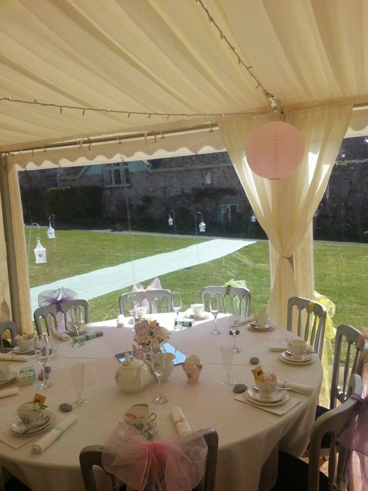 Wedding at Manorbier Castle