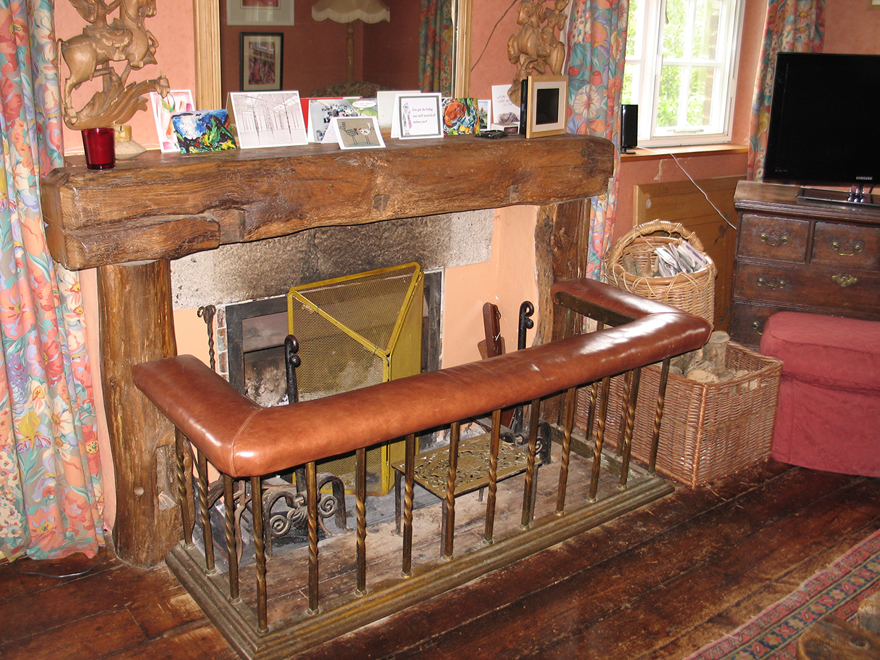 Browns barn fireplace