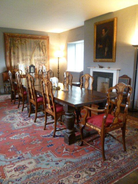 Tregarden manor house in Cornwall has a grand dining room
