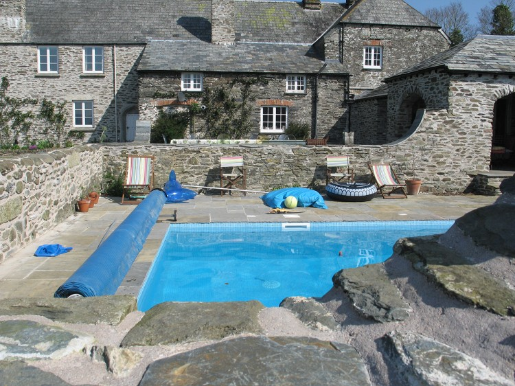 Tregarden holiday house in Cornwall with a swimming pool