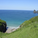 Bossiney Cove, in the grounds of holiday home Tintagel
