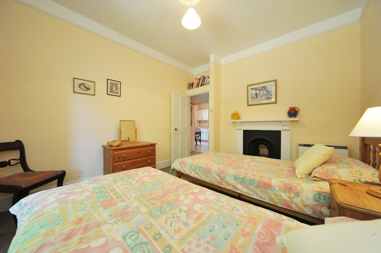 Twin Bedroom at Bosvathick Lodge Holiday let