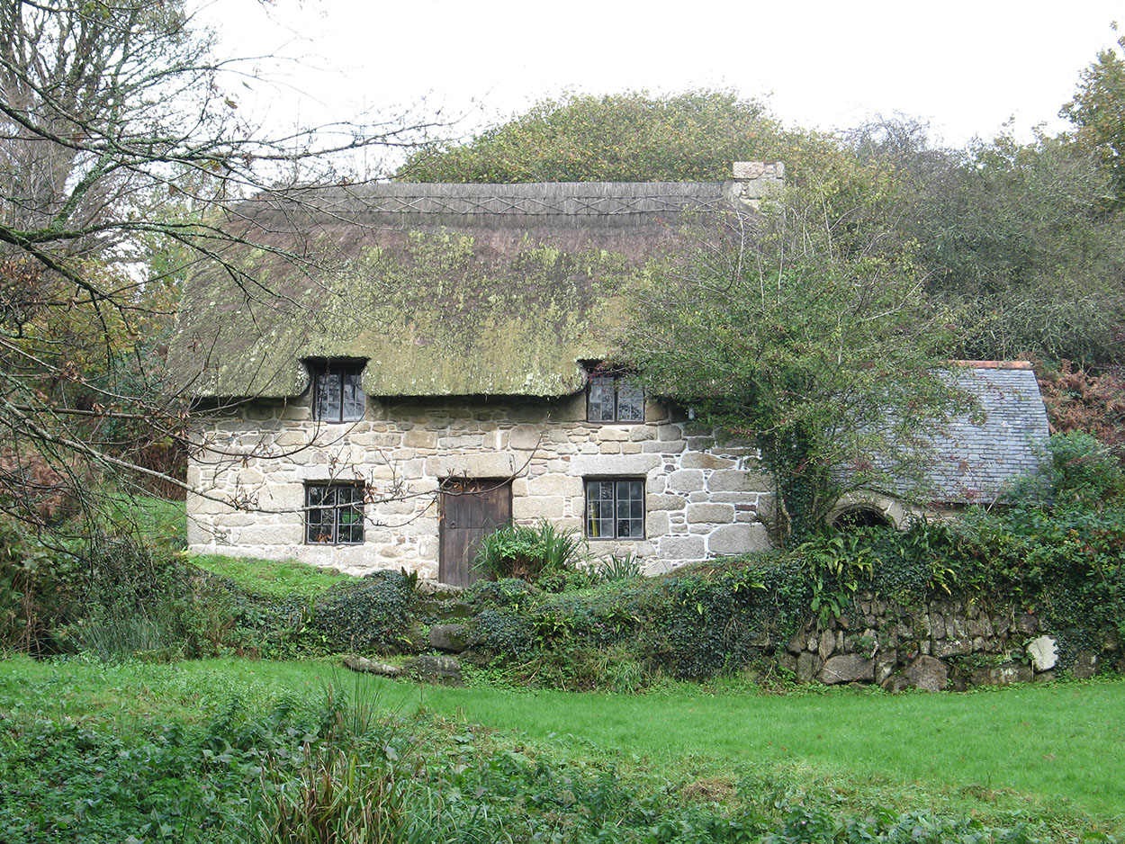 england cottages cottage garden uk cornwall stock roof photo traditional of image britain thatched
