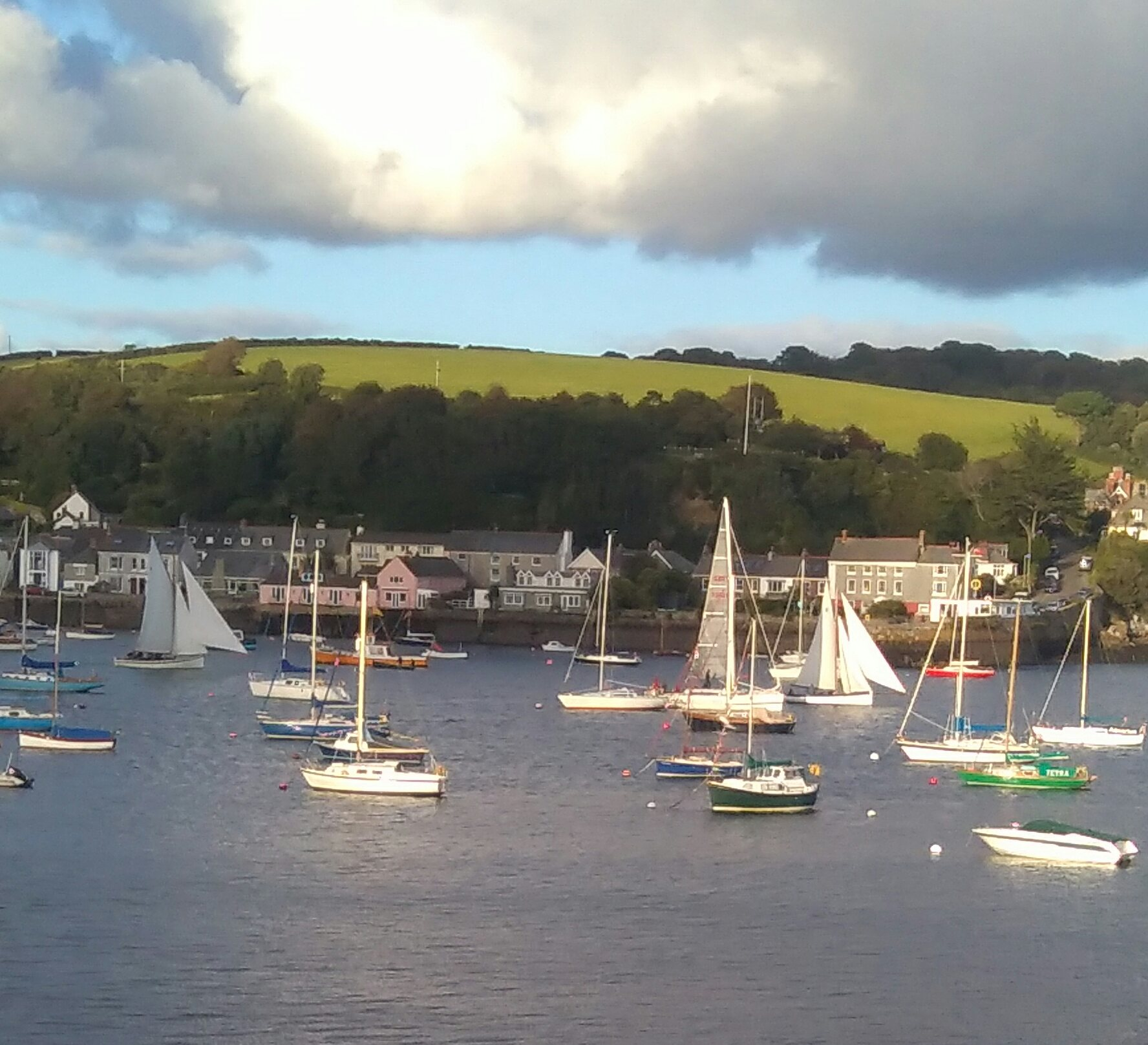 View across to Flushing from Falmouth with Quay House on the right